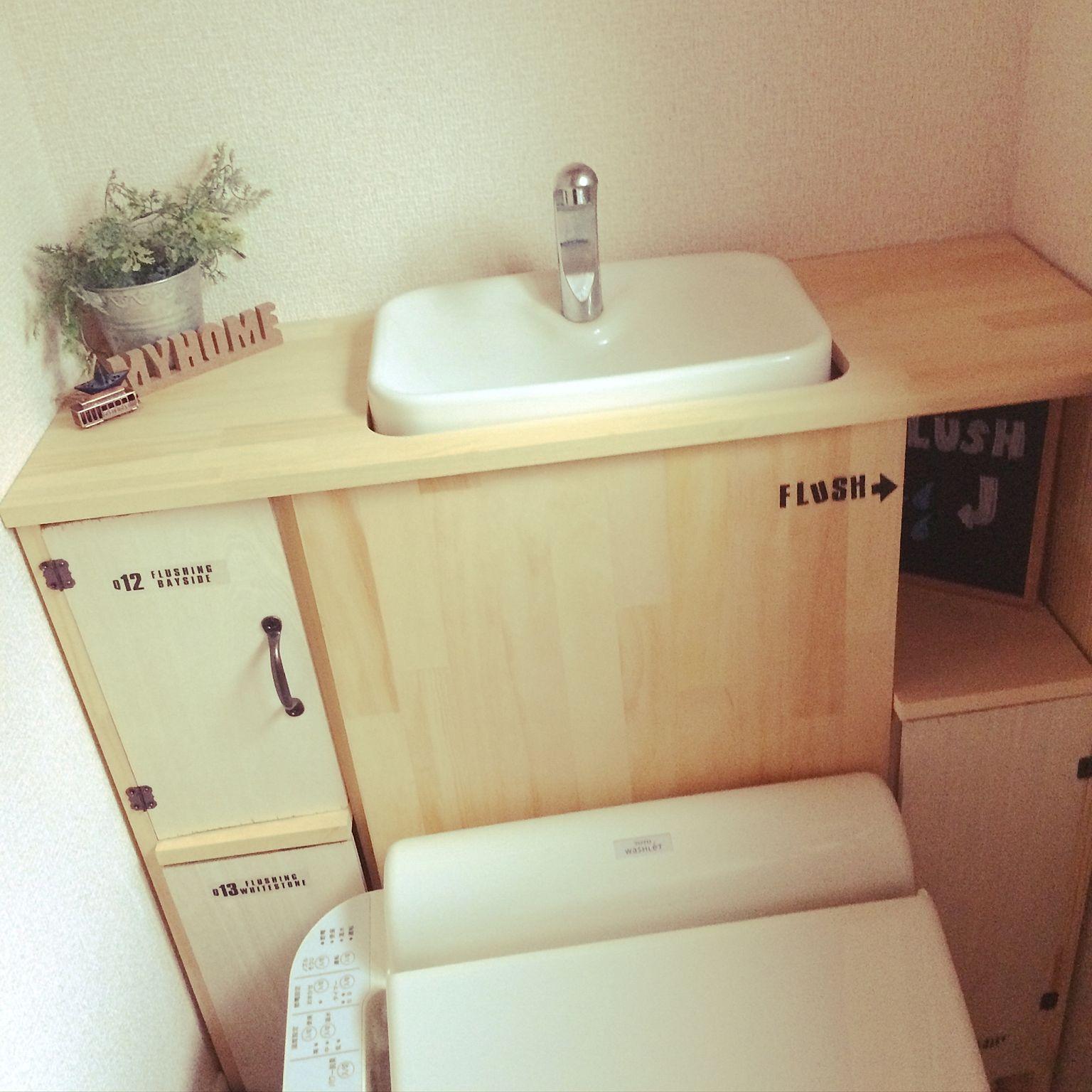 トイレのdiy実例24選壁面収納など驚きのアイデアをご紹介 Diyers