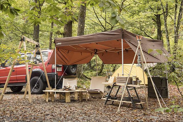 キャンプギアDIY!自作チェア・テーブル・ラックの作り方と収納アイデア