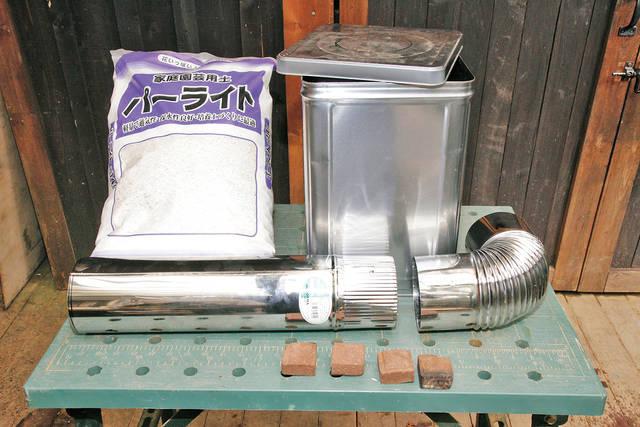 一斗缶&薪ストーブ用煙突で簡易型ロケットストーブを作る