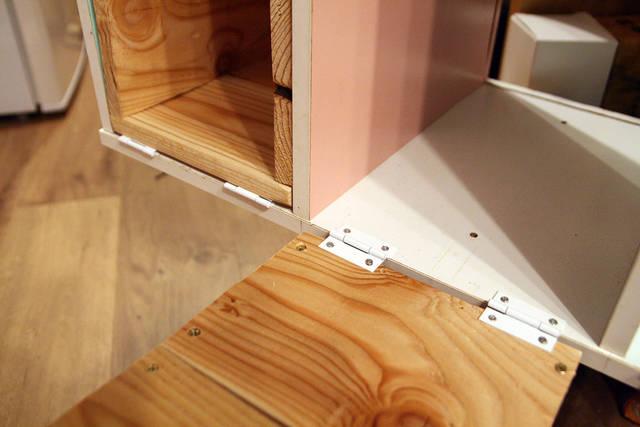 カラーボックスをリメイク!見た目も使いやすさも◎なキッチン台