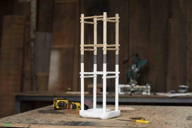 丸棒×セメントで作るDIY傘立て!自宅の玄関サイズにオーダーメイド