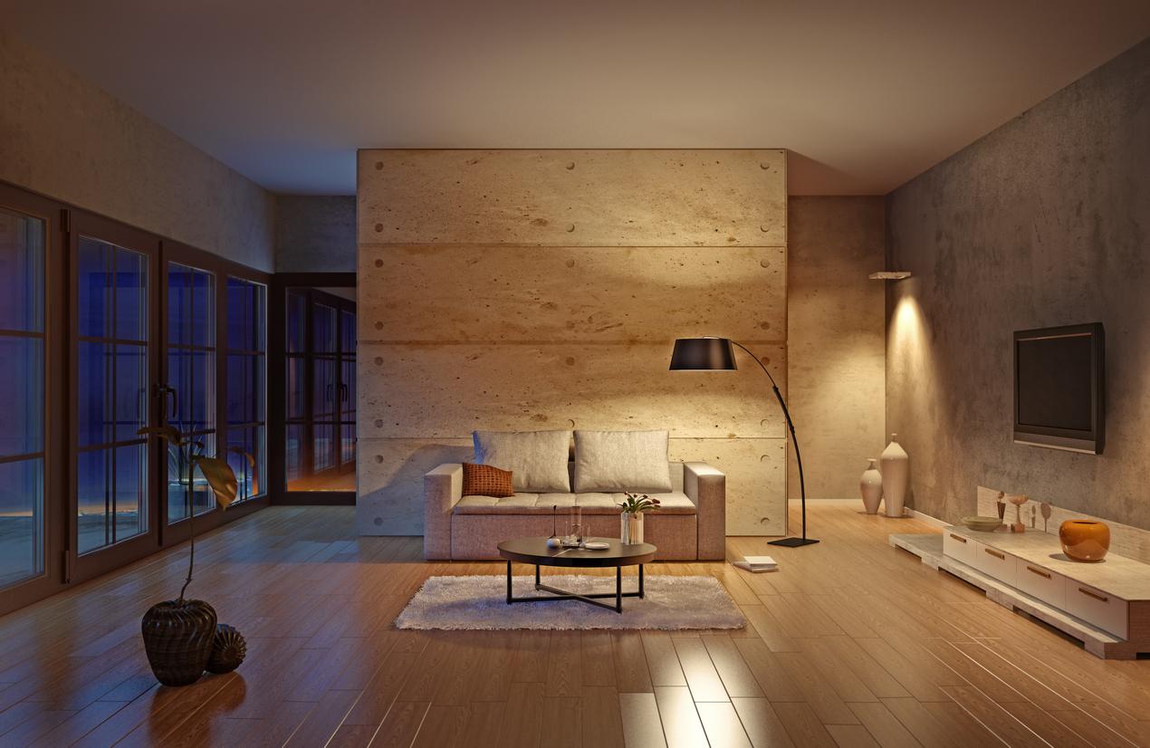 憧れのコンクリート打ちっぱなし風の壁紙 お部屋を劇的イメチェン