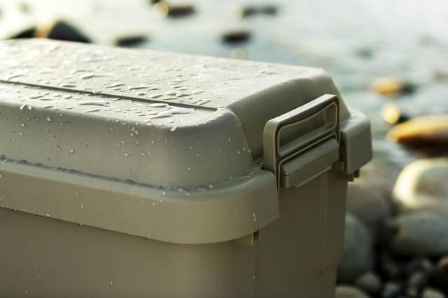 サイズのバリエーションは、30L/50L/70Lの3種類。用途に合わせてキャンプギアをばっちり収納できるほか、自宅で使用する場合は防災用品の備蓄などにも重宝します。