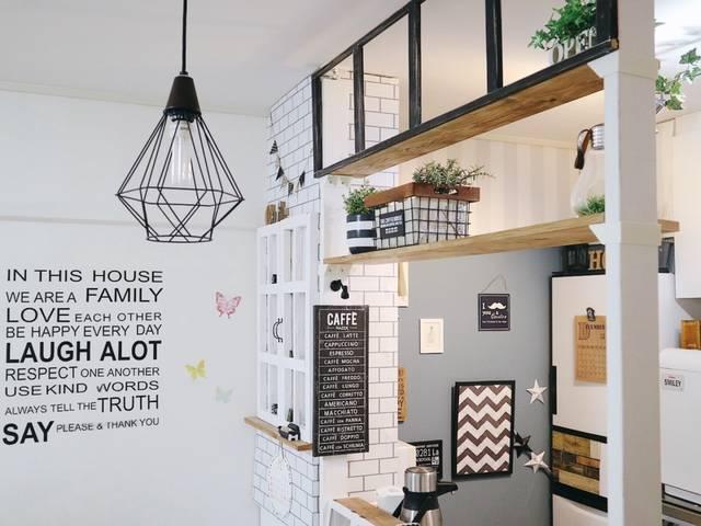 自宅がお洒落に大変身!カフェ風キッチンカウンターをDIYで作ろう!