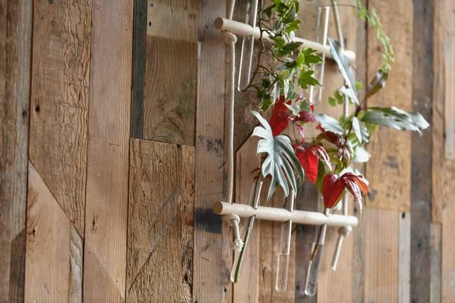 試験管×棒材で作るフラワーベース!植物で壁を飾ろう
