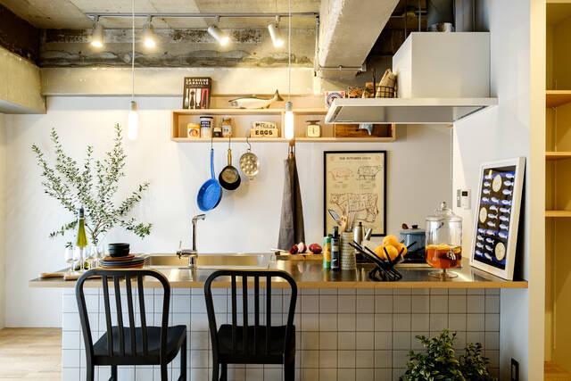 カウンター使いが決めて!キッチン部屋をもっと楽しむ方法