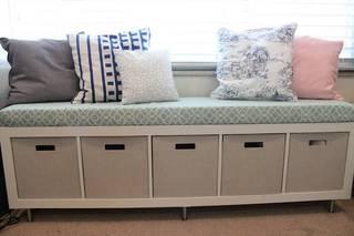 IKEAの棚をベンチソファにリメイク