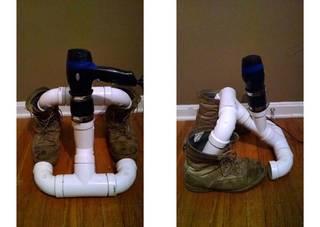 塩ビパイプでシューズ用乾燥機をDIY! | DIYer(s)