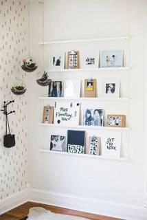 壁インテリアにロープシェルフ写真立てをDIY!