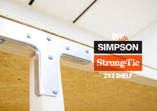 DIYで棚作り!シンプソン金具は2x2材でも大活躍!