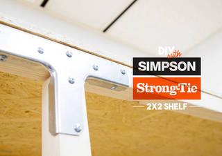 簡単!シンプソン金具と2x2材で棚をDIY!