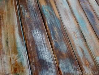新品の木材を海外の古材っぽく加工する方法